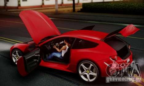 Ferrari FF 2012 для GTA San Andreas вид снизу