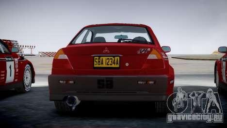 Mitsubishi Lancer Evolution VI Rally для GTA 4 вид слева
