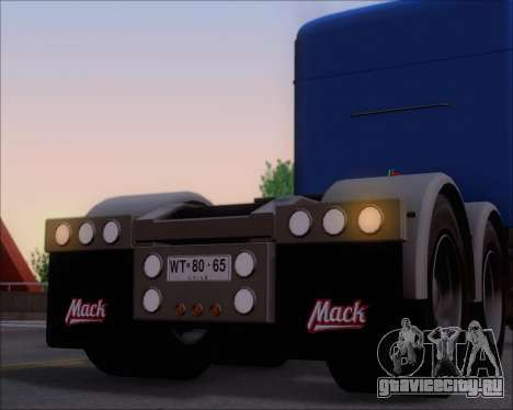 Mack Pinnacle 2006 для GTA San Andreas колёса