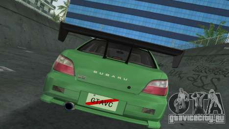 Subaru Impreza WRX 2002 Type 3 для GTA Vice City вид изнутри
