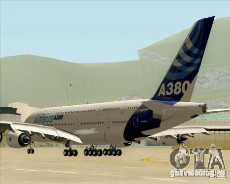 Airbus A380-861 для GTA San Andreas вид сзади слева