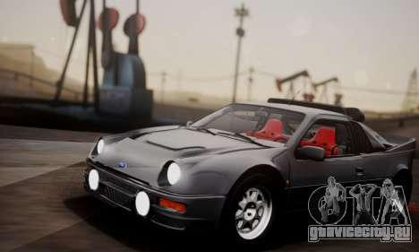 Ford RS200 Evolution 1985 для GTA San Andreas вид изнутри