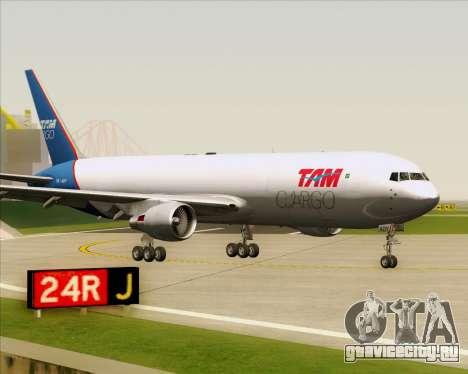Boeing 767-300ER F TAM Cargo для GTA San Andreas вид слева