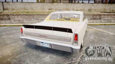 Chevrolet II Nova SS 1966 Custom [EPM] для GTA 4 вид сзади слева