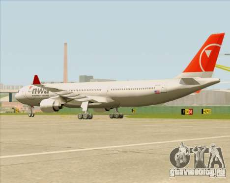 Airbus A330-300 Northwest Airlines для GTA San Andreas вид изнутри