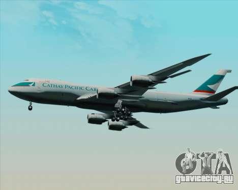Boeing 747-8 Cargo Cathay Pacific Cargo для GTA San Andreas вид изнутри