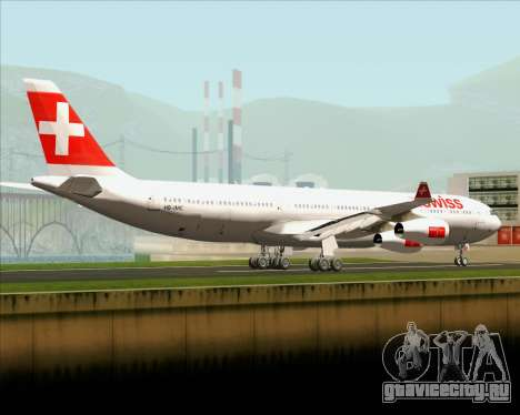 Airbus A340-313 Swiss International Airlines для GTA San Andreas вид сзади слева