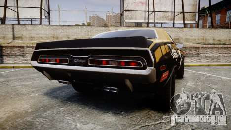 Dodge Challenger 1971 v2.2 PJ6 для GTA 4 вид сзади слева