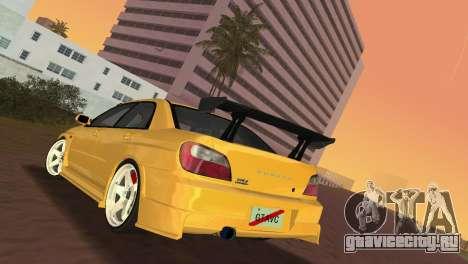 Subaru Impreza WRX 2002 Type 5 для GTA Vice City вид справа