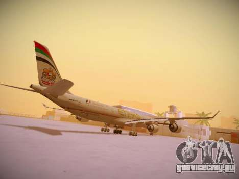Airbus A340-600 Etihad Airways для GTA San Andreas вид справа