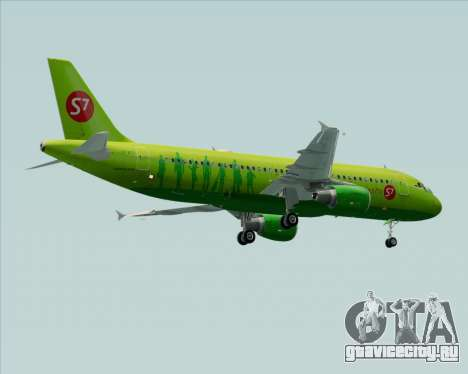 Airbus A320-214 S7-Siberia Airlines для GTA San Andreas колёса