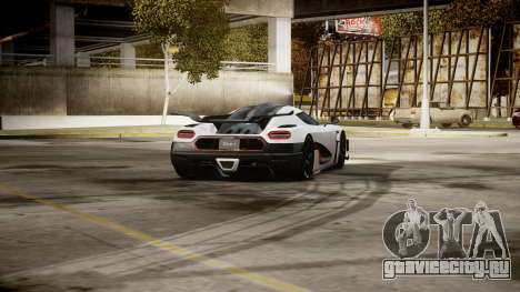 Koenigsegg Agera One:1 air core для GTA 4 вид сзади