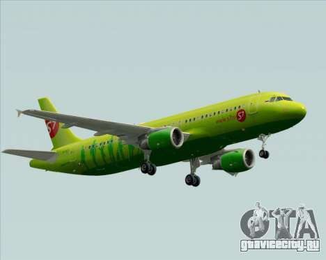 Airbus A320-214 S7-Siberia Airlines для GTA San Andreas вид сзади
