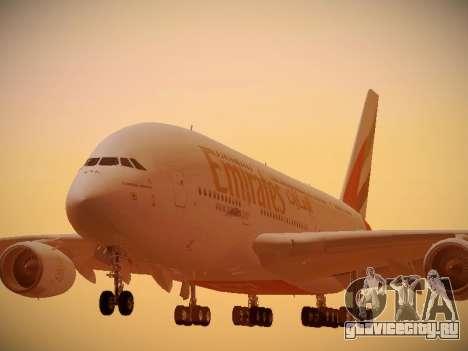 Airbus A380-800 Emirates для GTA San Andreas вид слева