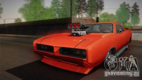 GTA 4 Dukes Tunable для GTA San Andreas вид изнутри