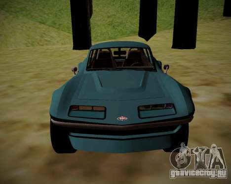 Coquette Classic GTA 5 DLC для GTA San Andreas вид сзади слева