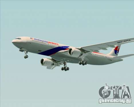 Airbus A330-323 Malaysia Airlines для GTA San Andreas вид сверху