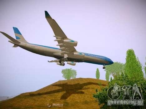 Airbus A340-300 Aerolíneas Argentinas для GTA San Andreas вид сбоку