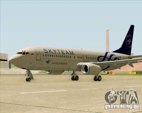 Boeing 737-86N Garuda Indonesia для GTA San Andreas вид справа