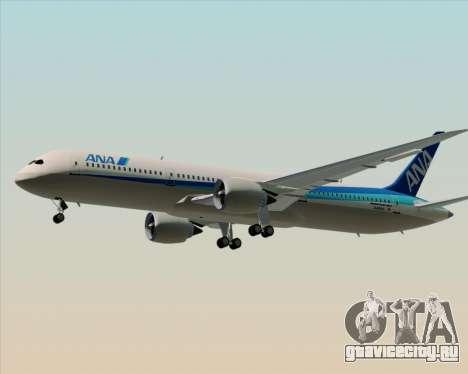 Boeing 787-9 All Nippon Airways для GTA San Andreas вид снизу