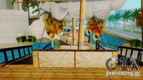 Новый пиратский корабль в Лас Вентурасе для GTA San Andreas четвёртый скриншот
