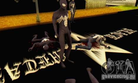 Skin The Amazing Spider Man 2 - Suit Symbiot для GTA San Andreas четвёртый скриншот