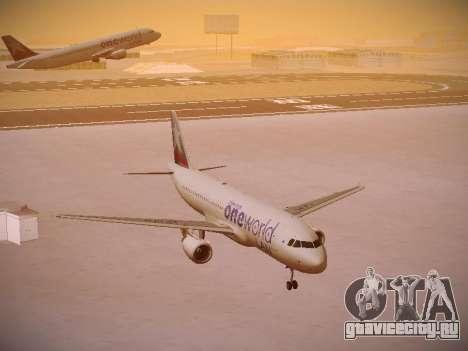 Airbus A320-214 LAN Oneworld для GTA San Andreas вид сзади
