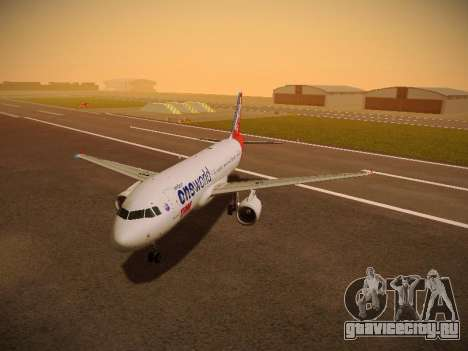Airbus A320-214 TAM Oneworld для GTA San Andreas вид слева