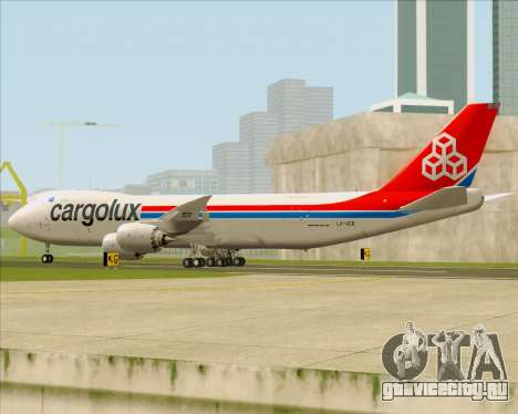 Boeing 747-8 Cargo Cargolux для GTA San Andreas вид сзади слева