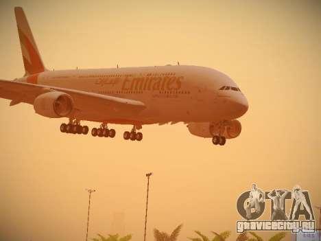 Airbus A380-800 Emirates для GTA San Andreas