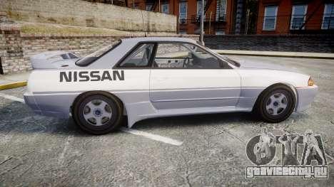 Nissan Skyline GTR R32 для GTA 4 вид слева