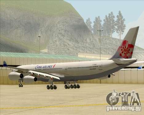 Airbus A340-313 China Airlines для GTA San Andreas вид справа