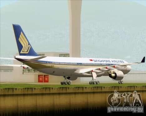 Airbus A330-300 Singapore Airlines для GTA San Andreas вид справа