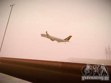 Airbus A340-300 South African Airways для GTA San Andreas вид изнутри