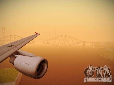 Airbus A320-214 TAM Oneworld для GTA San Andreas двигатель