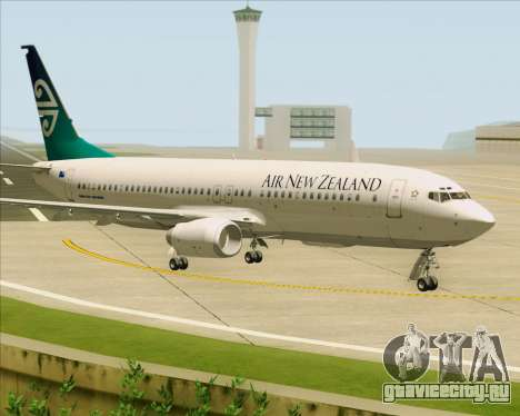Boeing 737-800 Air New Zealand для GTA San Andreas вид слева