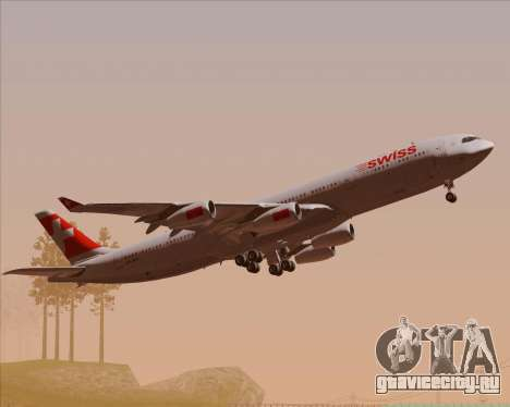 Airbus A340-313 Swiss International Airlines для GTA San Andreas вид сверху