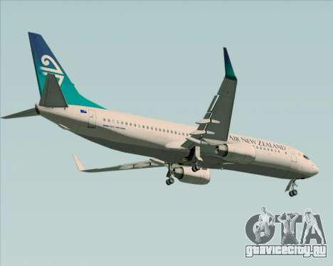 Boeing 737-800 Air New Zealand для GTA San Andreas вид изнутри