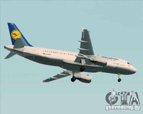 Airbus A320-211 Lufthansa для GTA San Andreas вид сверху