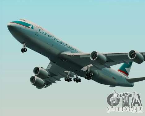 Boeing 747-8 Cargo Cathay Pacific Cargo для GTA San Andreas вид сзади слева