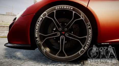 McLaren 650S Spider 2014 [EPM] Michelin v2 для GTA 4 вид сзади