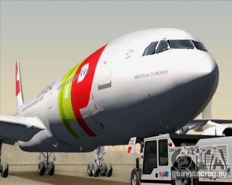 Airbus A340-312 TAP Portugal для GTA San Andreas вид изнутри
