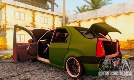 Dacia Logan MOR для GTA San Andreas вид изнутри