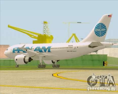 Airbus A310-324 Pan American World Airways для GTA San Andreas вид справа