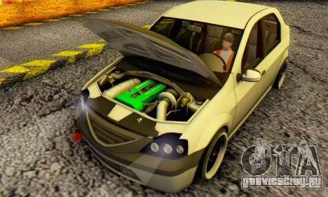 Dacia Logan MOR для GTA San Andreas вид слева