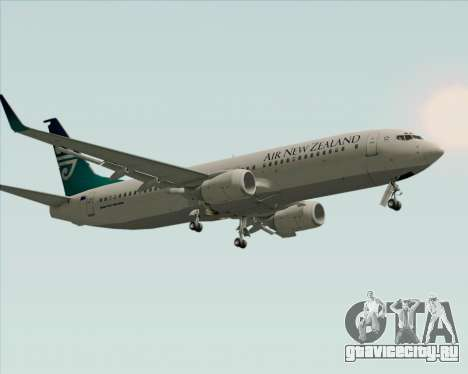 Boeing 737-800 Air New Zealand для GTA San Andreas вид снизу
