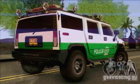 Hummer H2 Colombian Police для GTA San Andreas