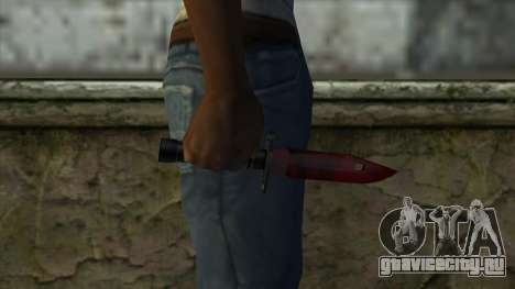 Bayonet M9 для GTA San Andreas третий скриншот