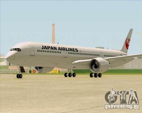 Airbus A350-941 Japan Airlines для GTA San Andreas вид сзади слева