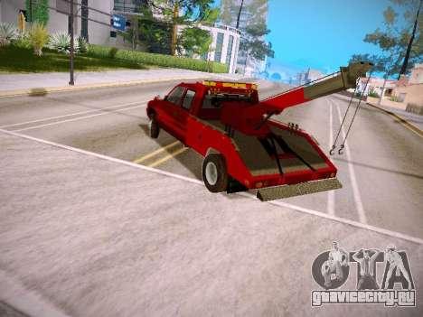 Dodge Ram Tow-Truck для GTA San Andreas вид сзади слева